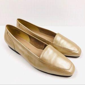 Enzo Angiolini Liberty Gold Flats